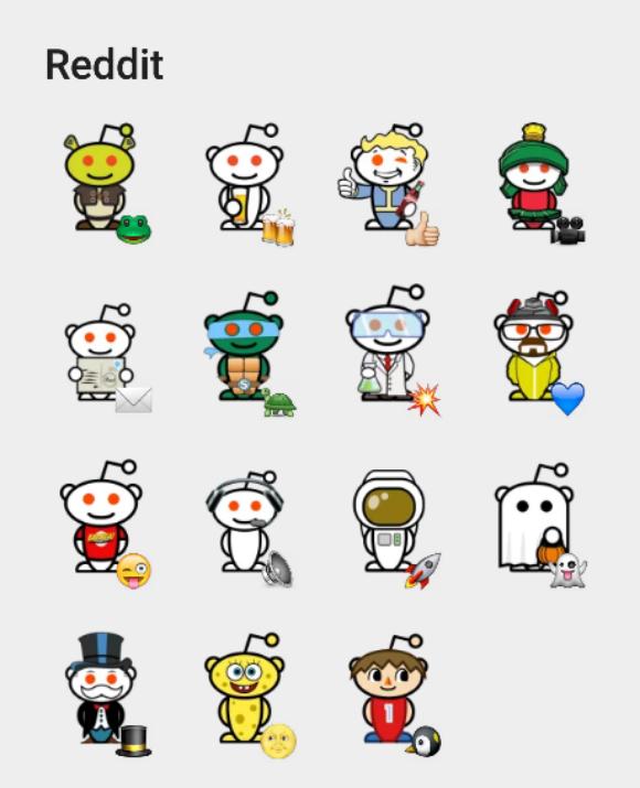 Reddit sticker fot telegram