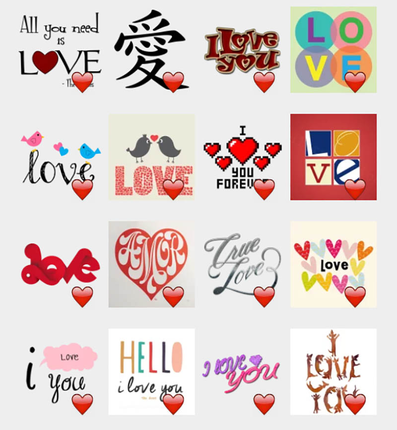 valentines day i love you stickers - Valentines Day Stickers