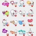 love kiss stickers
