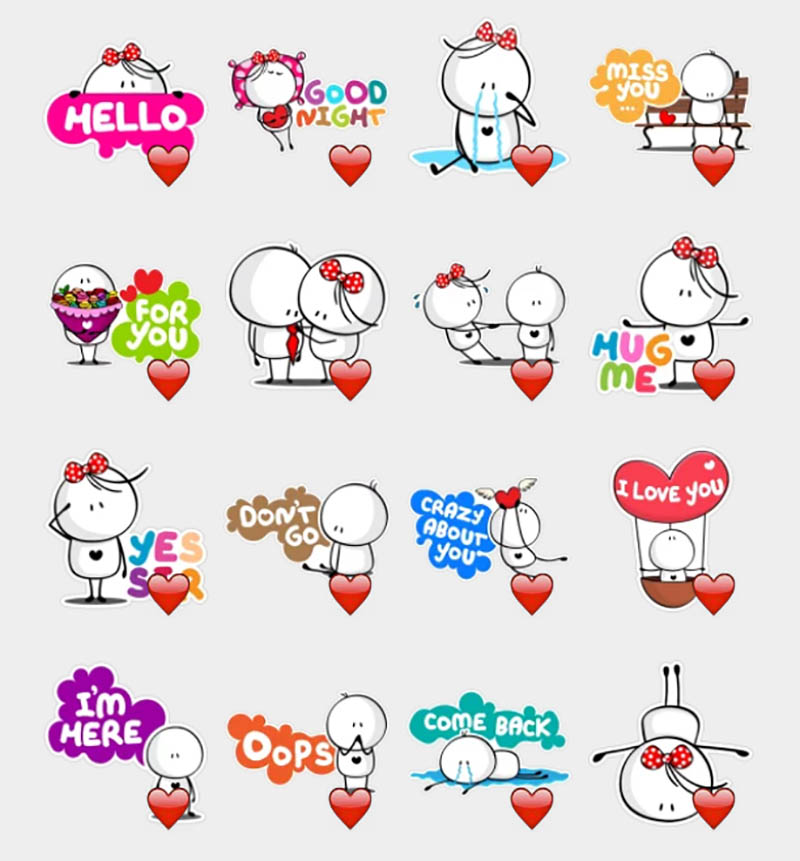 love kiss stickers