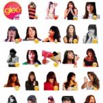 glee girl Stickers