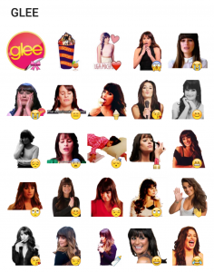 glee girl Stickers