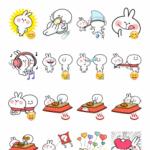 Spoiled Rabbit Telegram stickers set