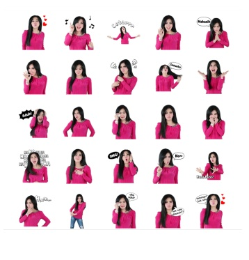 syahrini Stickers telegram