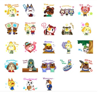 animal crossing new leaf stickers telegram