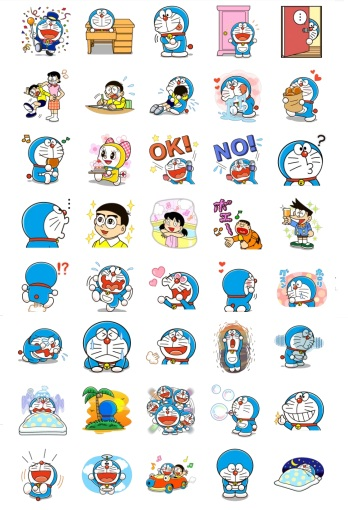doraemon stickers telegram