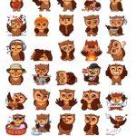 owl stickers telegram