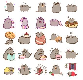 pussheen stickers cat love