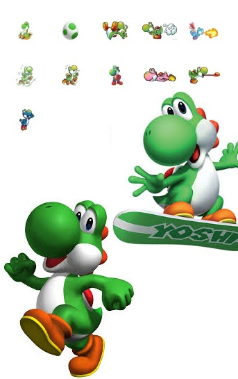 yoshi dinosaur video games published