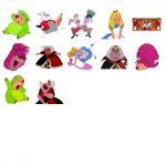 Alice Wonderland movie stickers