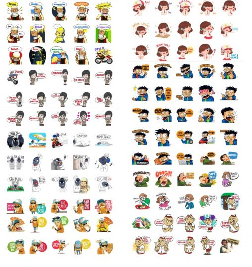 Full Pack Indonesia Stickers
