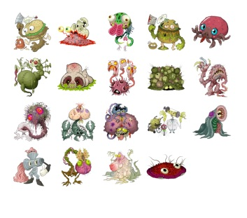Monster stickers telegram