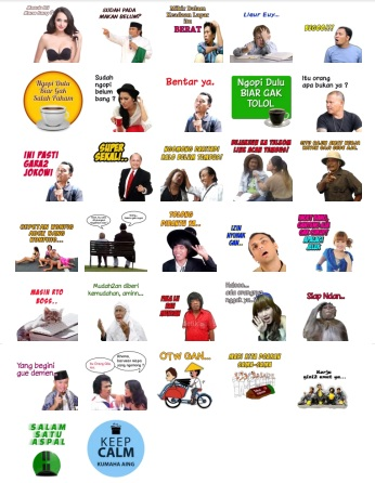 Stickers Lucu Pisan Indonesia