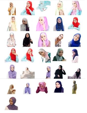 Stickers Telegram Jilbab Malaysia