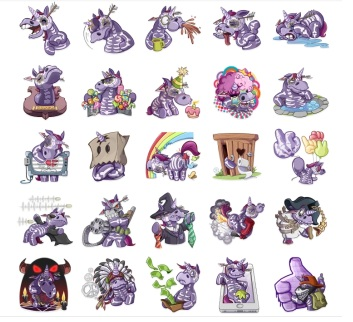 Undead Unicorn stickers telegram