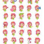 girl pink stickers telegram