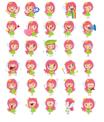girl pink stickers telegram