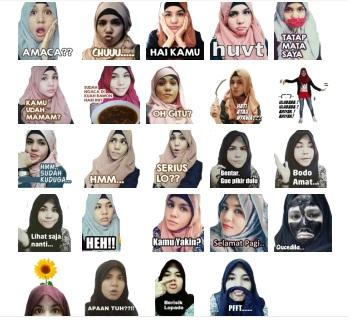 hijab gaul stickers Malaysia