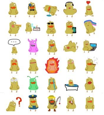 pushang duck stickers telegram