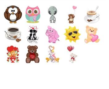 teddy bear mini stickers pack