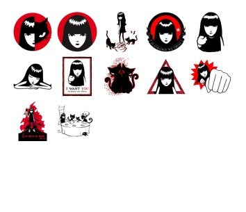 Black red stickers telegram
