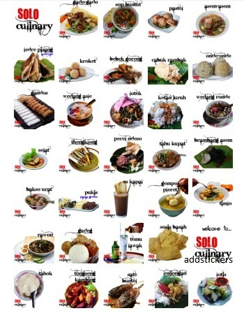 Food Indonesian stickers telegram