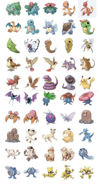 Full Pack Pokemon Stickers