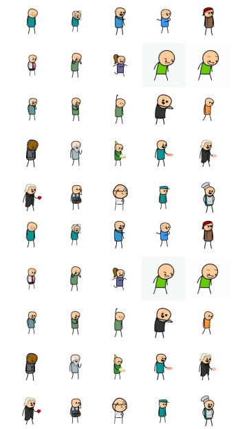 Cyanide and Happines stickers telegram