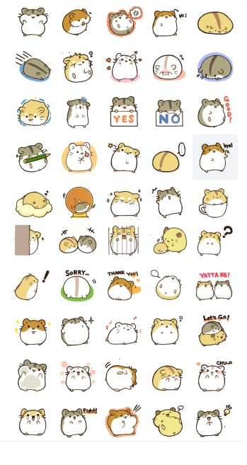hamster stickers telegram