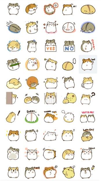 hamster stickers telegram