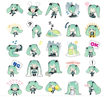 miku line stickers