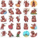 miska stickers bear