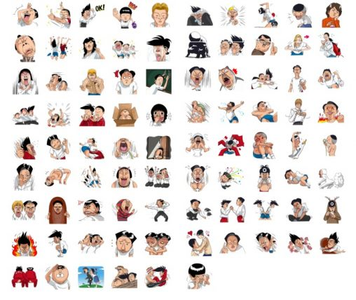 pingpong club stickers big pack