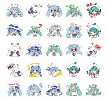 miku line telegram stickers