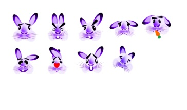 Cheeky the Bunny Stickers