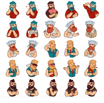 Borodist Telegram Stickers Collection