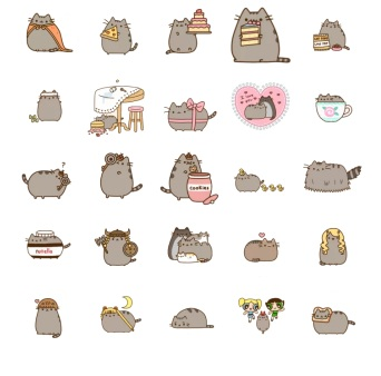 Cat Beautiful Pusheen Telegram Stickers
