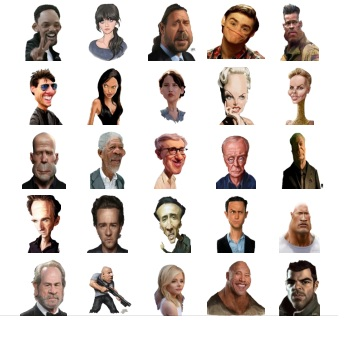 Cinema Figures Sticker Telegram