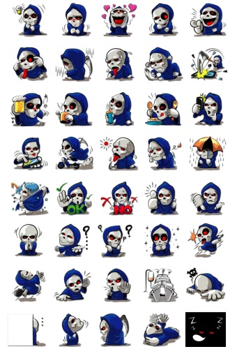 Grim Reaper Stickers Telegram