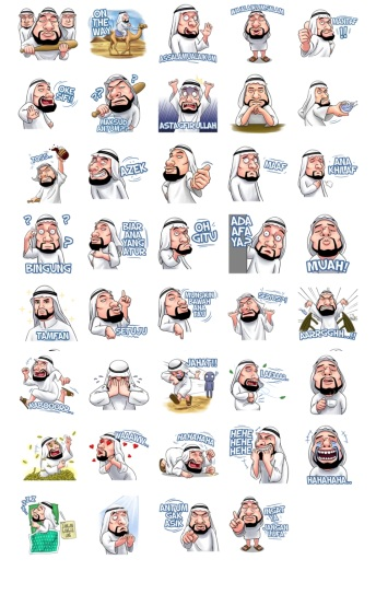 Handsome Uncle Add Stickers Telegram Pack