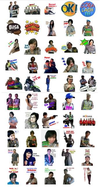 stickers polisi