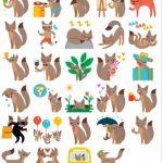Foxes Stickers Messenger Telegram