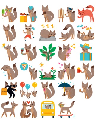 Foxes Stickers Messenger Telegram