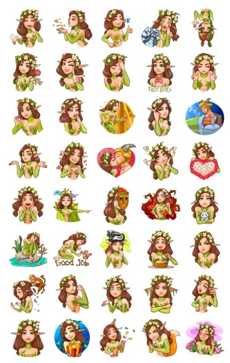 Wood Nymph Stickers Messenger