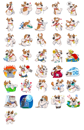 Add Stickers Telegram Richie Dog Funny Telegram Messenger