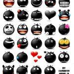 Black Haha Telegram Stickers Pack By Ashk128