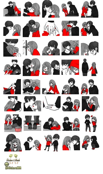 Couple Romantic Telegram Stickers Pack Spesial Edition