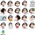 Telegram Stickers a girl by Shafar