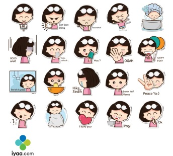 Telegram Stickers a girl by Shafar