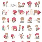 Romantics Series Wiredo Couple Stickers